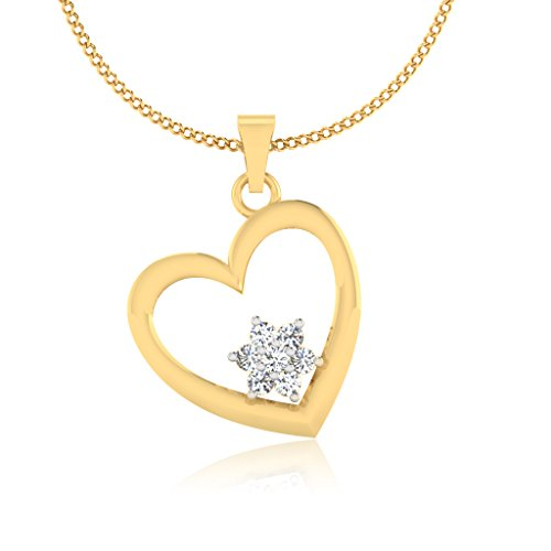 IskiUski 14KT Gold and Diamond Pendant for Women
