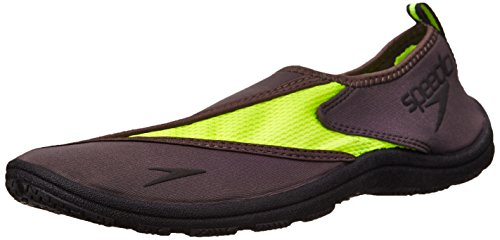 Speedo Men's Surfwalker Pro 2.0 Water Shoe, Grey/Safety Yellow, 9 UK/9 M US