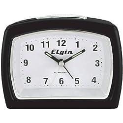 Geneva/Advance Clock Co 3647E Elgin Quartz Alarm Clock, Classic Black