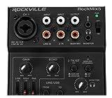 Rockville RockMix 5 Channel Pro Mixer w/USB