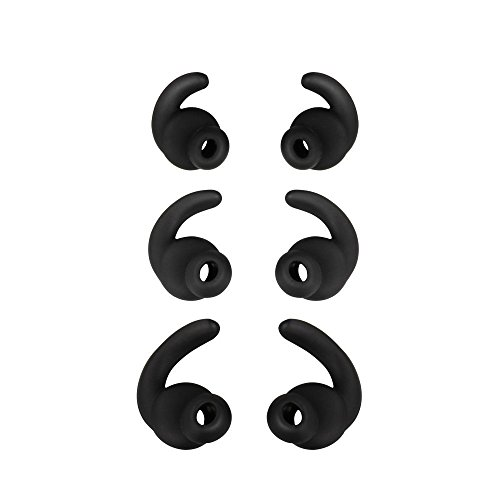 SMARTOMI Earphone Tips Replacement Earbud Tips for Q5 Ture Wireless Headphones 3 pairs S/M/L Eartips - Black