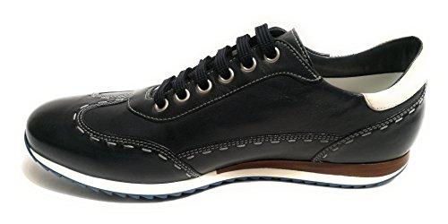 GALIZIO TORRESI Scarpe Uomo Sneaker Elegante Blu Scuro US18GT09