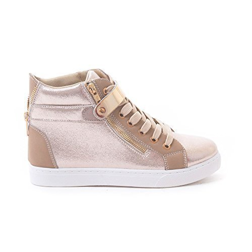 Metallic High Top Sneaker - 8