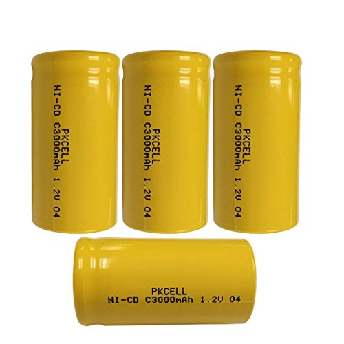 4x C Size C Cell 3000mAh 1.2v Nicd Rechargeable Batteries