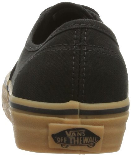 82e27f35dd Vans Unisex Authentic Black Rubber Skate Shoe 8 Men US   9.5 Women US -  VN-0TSVBXH   Fashion Sneakers   Clothing