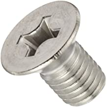 18-8 Stainless Steel Machine Screw, Plain Finish, Flat Head, Phillips Drive, Meets DIN 965, 4mm Length, Fully Threaded, M3-0.5 Metric Coarse Threads (Pack of 100)