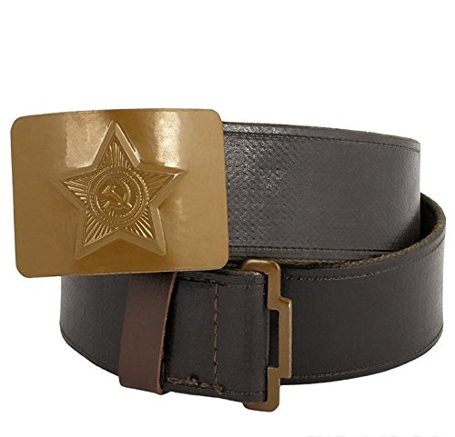 Made in USSR soviet army Soldier canvas faux leather Belt with Green buckle Brand new
