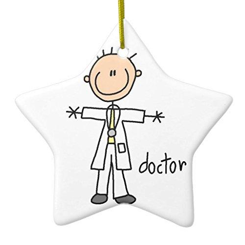 Novelty Christmas Tree Decor Doctor Stick Figure Ceramic Ornament Star Christmas Decorations Ornament Crafts