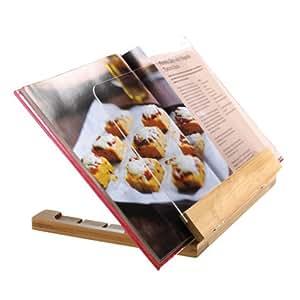 Bamboo recipe book stand home kitchen - Cream recipe book stand ...