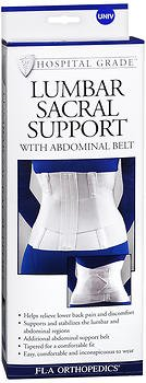 Fla Orthopedics Lumbar Sacral Support with Abdominal Belt - 1 ea, Pack of 4