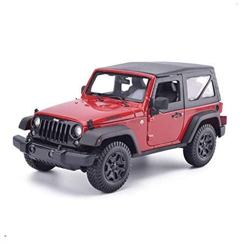 Chef Vehicle Playsets Model Car 1 / 18JEEP Jeep Wrangler Sahara Robin Hood Convertible Simulated Alloy Car Model Convertible ( Color : RED )