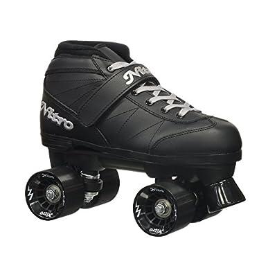 Epic Skates 2016 Epic Super Nitro J13 Indoor/Outdoor Quad Speed Roller Skates, Black : Sports & Outdoors