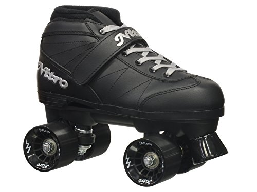 Epic Skates Super Nitro Indoor/Outdoor Quad Speed Roller Skates, Adult 8 (Outdoor Quad)