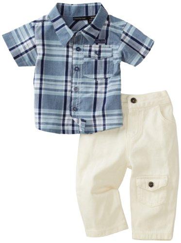Calvin Klein Baby-Boys Newborn 2 Piece Pant Set