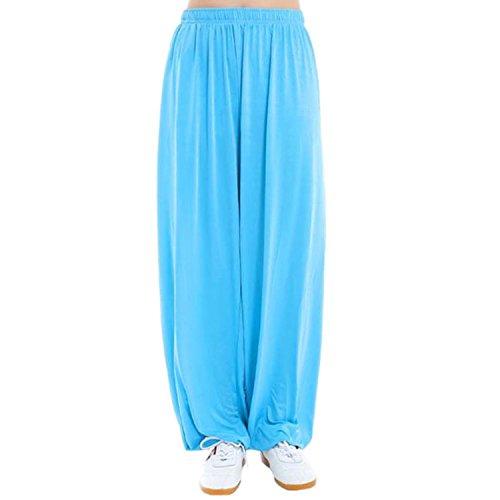 MESHIKAIER Grande Taille Super Doux Sarouel Pantalon Femme en Modal Pantalon Yoga Pantalon Harem Pantalon Bouffant pour Sport Jogging DanseÉlastique et Extensible