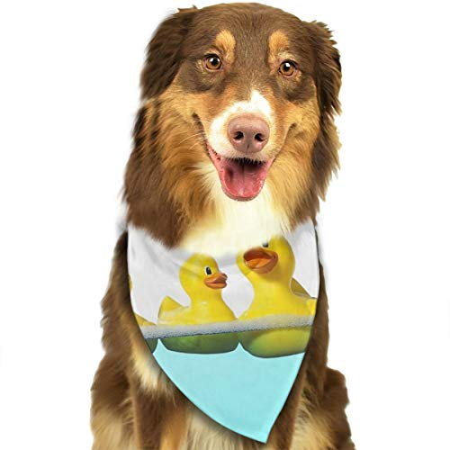 Pet Scarf Dog Bandana Bibs Triangle Head Scarfs Duck Families Accessories for Cats Baby Puppy