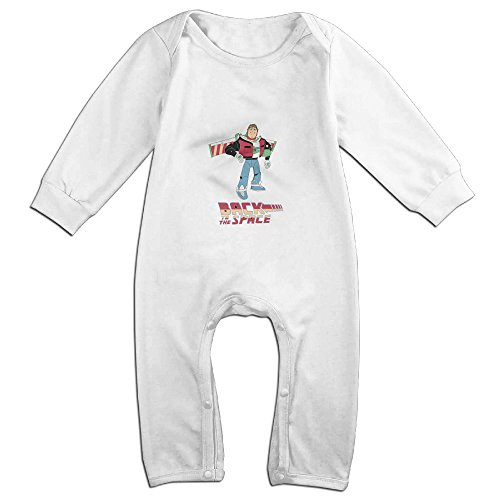 [Raymond Buzz Back To The Future Long Sleeve Jumpsuit Outfits White 24 Months] (Forrest Gump Kid Costume)