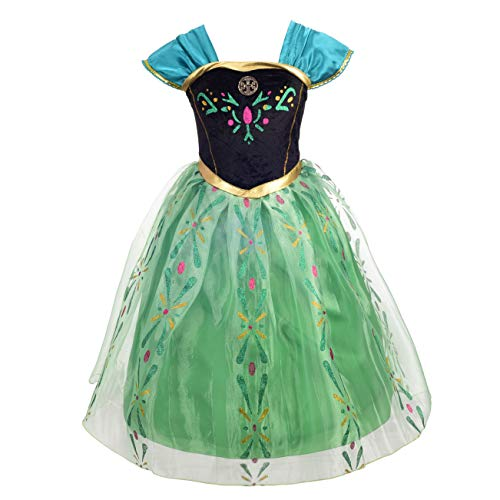 Dressy Daisy Girls Princess Anna Dress Up Costumes Halloween Party Outfit Size 5 -