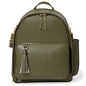 Skip Hop Greenwich Simply Chic Diaper Backpack, Olive