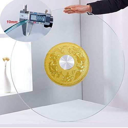 大型回転トレイ サイレントボールベアリング付き強化ガラスレイジースーザンターンテーブル、厚さ10mm