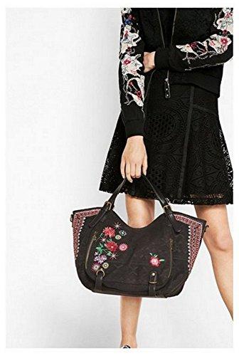 Femme DESIGUAL flores sac noir mex a bandouliere rotterdam qnRdU