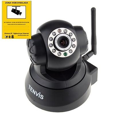 Tenvis JPT3815W 3815W (Micrófono y Altavoz Integrado, Sonido Bidireccional) Monitor del Bebé Wifi Inalámbrica Cámara de Vigilancia ...