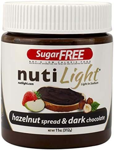 Nutilight Sugar Free Hazelnut Spread and Dark Chocolate 11 Ounces