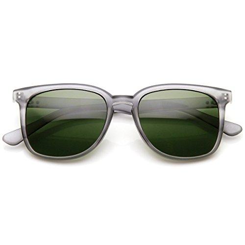 zeroUV - Classic Square Dapper Lifestyle Basic Frame Horn Rimmed Sunglasses (Smoke - Sunglasses Retrosuperfuture People