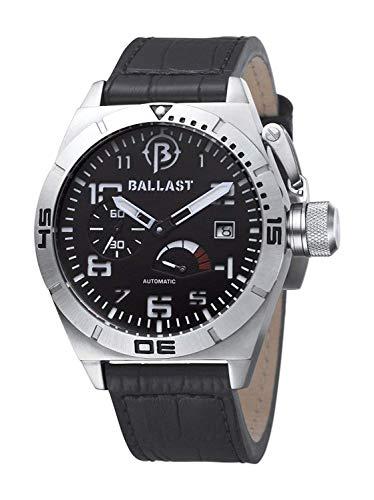 Ballast BALLAST watch BL-3120-021J self-winding power indicator Men's 47mm S/S Case Black Dial Leather belt [regular imported goods]