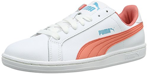 Puma Unisex-Kinder Smash Fun L Low-Top Weiß (Puma White-Porcelain Rose 08)