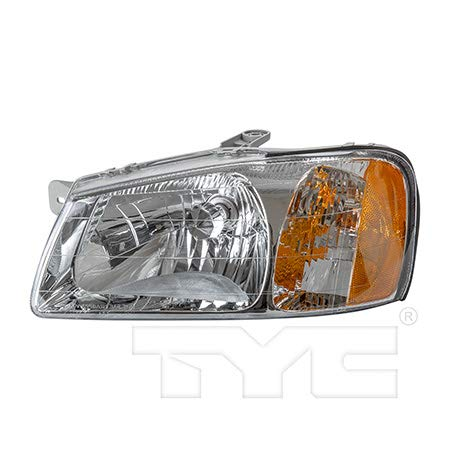 (Fits 2000-2002 Hyundai Accent Headlight Driver Side Bulbs Included HY2502123 - Replaces 92101-25050)