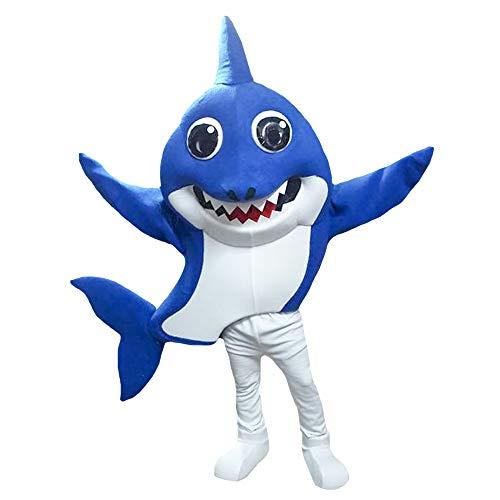 Blue Daddy Shark Baby Shark Mascot Character Costume Cosplay -