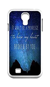 Cool Painting my thoughts are stars Snap-on Hard Back Case Cover Shell for Samsung GALAXY S4 I9500 I9502 I9508 I959 -1189