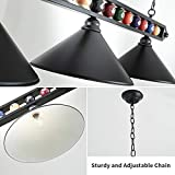 Hanging Pool Table Lamp, Billiard Light, 3 Pendant