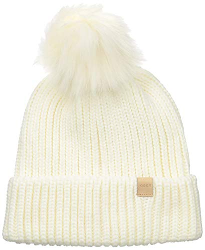Obey Junior's Humboldt Faux Fur POM Beanie, Cloud White, ONE Size