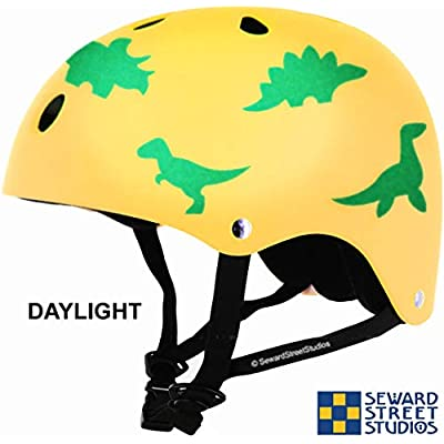 Seward Street Studios Reflective Decals Dinosaur Set - Dinosaur Safety Sticker Kit - Dinosaur Reflector Stickers (Dark Blue) : Sports & Outdoors