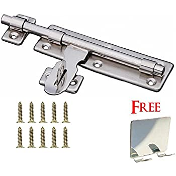 "NELXULAS Stainless Steel Door Lock Latch Slide Barrel Bolt Clasp Set 8"" Length (CX8)"