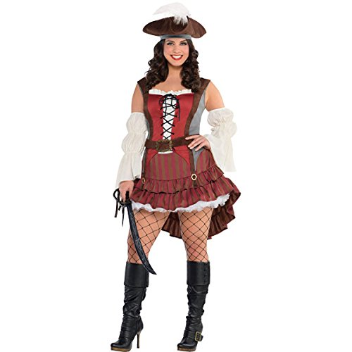 AMSCAN Castaway Pirate Halloween Costume for Women, Extra Large, with Included Accessories for $<!--$31.24-->