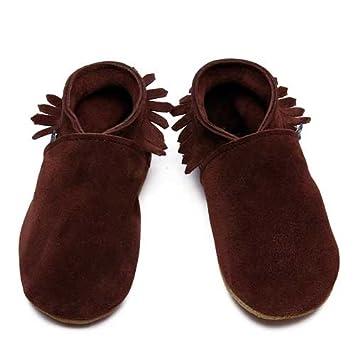 Inch Blue - 1732 CM - Chaussures Bébé Souples - Mocassin - Daim Marron - T 25-27 cm pSoEsnTF9R