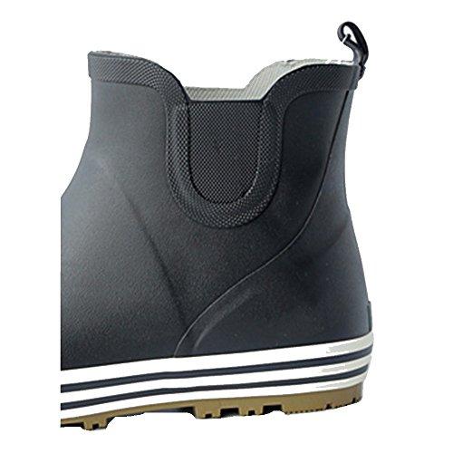 NAN Rain Boots Short Tube Low Top Fishing Shoes Anti-skid Shoes Rain Boots Student Waterproof Shoes Rain Boots Rubber Overshoes (Color : Black, Size : EU41/UK7.5-8/CN42) Black