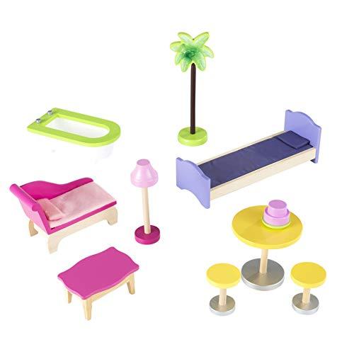 41xj gPml3L - KidKraft So Chic Dollhouse with Furniture