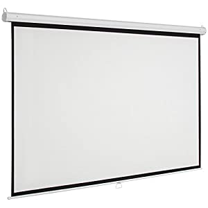 "Marketworldcup - 119"" Manual Projector Screen 84""X84"" Pull Down Projection Home Movie Theater Premium Quality!! Blowout Prices!"