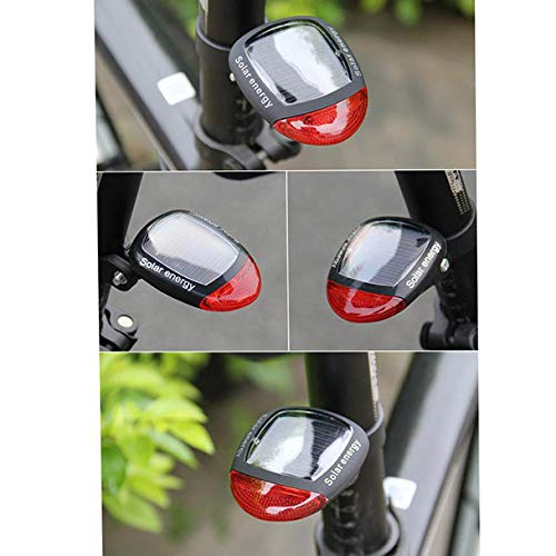 Glumes Bike Rear Light|Ultra Bright Powerful Safety Light | Environmentally Friendly Fashion Solar Bicycle Taillight|3 Light Mode Options|Waterproof|for all Bikes/Helmets (Red)