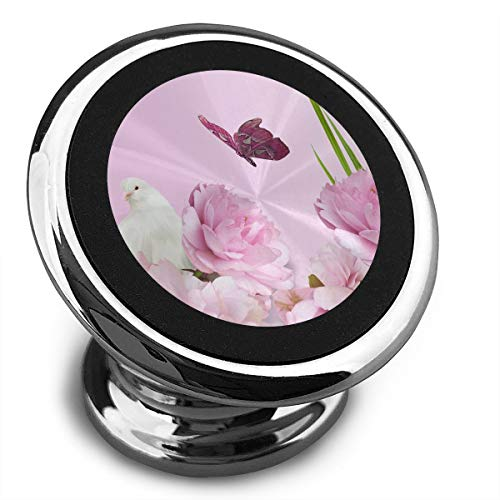 Magnetic Car Phone Mount Holder Peony Animal Stands Mobile Bracket 360 Degree Rotation from Dashboard