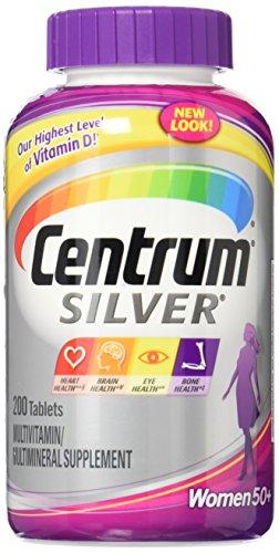 Centrum Silver Women 50+ Multivitamin/Multimineral Supplement Tablets, 200 ea
