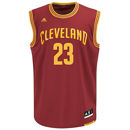 NBA Men's Cleveland Cavaliers LeBron James Replica Player Road Jersey, 4X-Large, Maroon