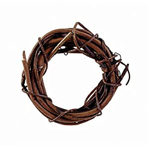 Darice Grapevine Wreath - Natural - 1 inch (1 Pack of 8 Pieces) 32