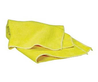 WAXIE Yellow Microfiber Cleaning Cloth 16 X 16 (Pack of 12)