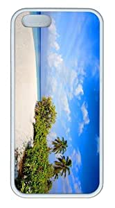 indestructible cases beach nature TPU White Case for iphone 5/5S