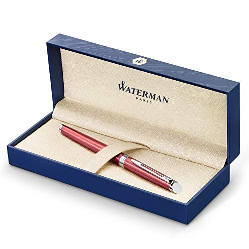 (Waterman Hemisphere Rollerball Pen Fine Point with Black Ink Cartridge (2043206), Coral Pink)